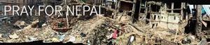 PRAY FOR NEPAL BANNER